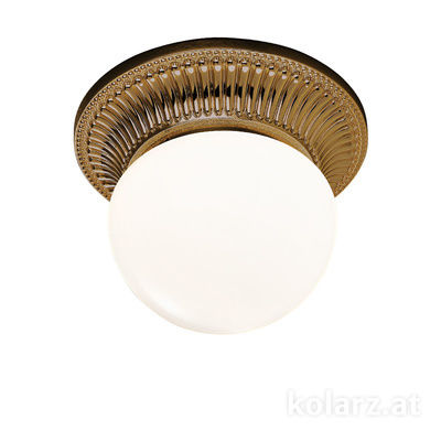 0297.11.4 Antique Brass, White, Ø16cm, Height 12cm, 1 light, G9