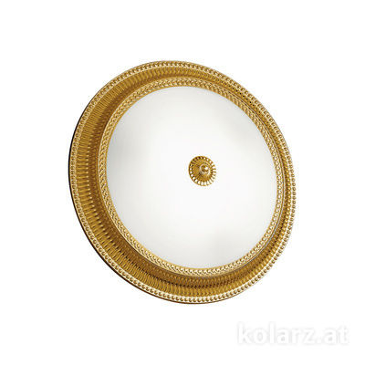 0297.13.15 Französisch Gold, Weiss, Ø40cm, Höhe 11cm, 3-flammig, E27