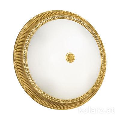 0297.14.3 24 Carat Gold, White, Ø50cm, Height 11cm, 4 lights, E27