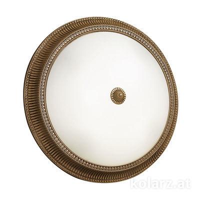 0297.14.4 Antique Brass, White, Ø50cm, Max. height 11cm, 4 lights, E27