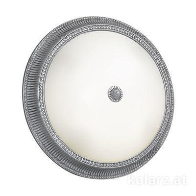 0297.14.5 Chrome, White, Ø50cm, Height 11cm, 4 lights, E27