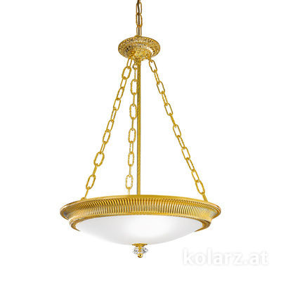 0297.33.3 24 Carat Gold, White, Ø50cm, Height 65cm, Min. height 85cm, Max. height 130cm, 3 lights, E27
