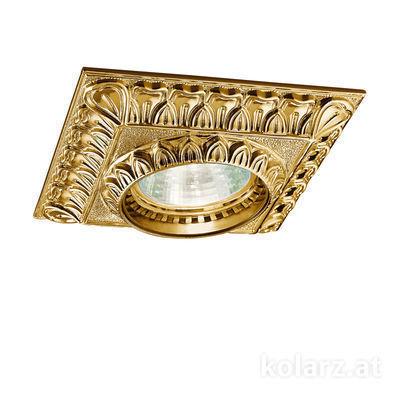 0298.10Q.15 French Gold, Length 10cm, Width 10cm, Height 5cm, 1 light, GU10