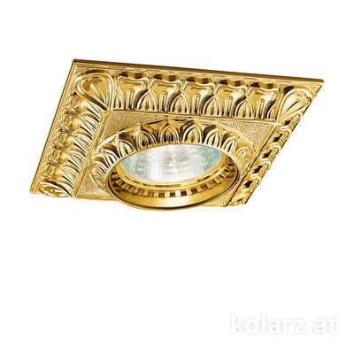0298.10Q.3 24 Carat Gold, Length 10cm, Width 10cm, Height 5cm, 1 light, GU10