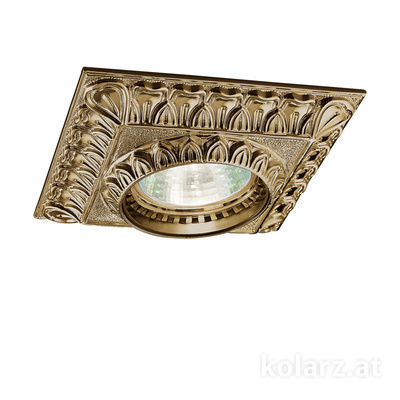 0298.10Q.4 Antique Brass, Length 10cm, Width 10cm, Height 5cm, 1 light, GU10