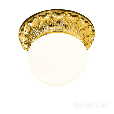 0298.11.3 24 Karat Gold, Weiss, Ø16cm, Höhe 12cm, 1-flammig, G9