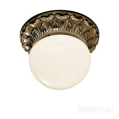 0298.11.4 Antique Brass, White, Ø16cm, Height 12cm, 1 light, G9