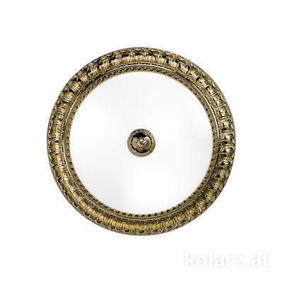0298.13.4 Antique Brass, White, Ø40cm, Height 11cm, 3 lights, E27