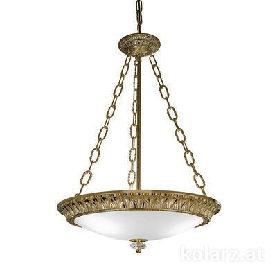 0298.33.4 Antique Brass, White, Ø50cm, Height 65cm, Min. height 85cm, Max. height 130cm, 3 lights, E27