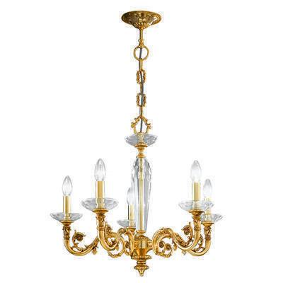 0299.85.15 French Gold, Ø65cm, Height 57cm, Min. height 80cm, Max. height 125cm, 5 lights, E14