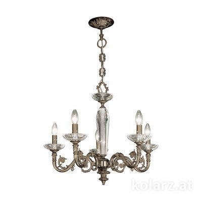 0299.85.4 Antique Brass, Ø65cm, Height 57cm, Min. height 80cm, Max. height 125cm, 5 lights, E14