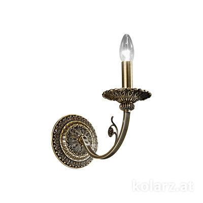 0301.61.4 Antique Brass, Width 14cm, Height 25cm, 1 light, E14