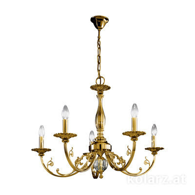 0301.85.4 Antique Brass, Ø83cm, Height 57cm, Min. height 83cm, Max. height 128cm, 5 lights, E14