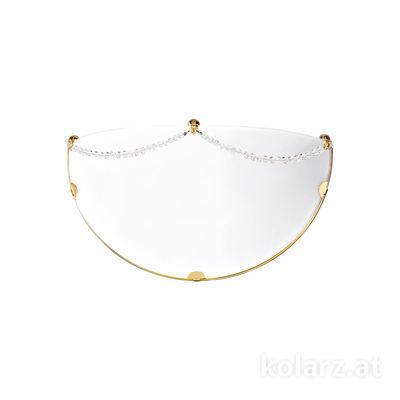 0311.61.3.KpT 24 Carat Gold, White, Width 32cm, Max. height 16cm, 1 light, E27