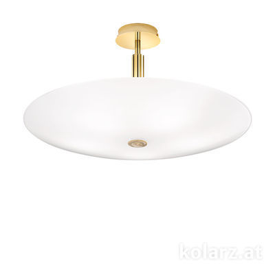 0314.55L.3/aq21 24 Carat Gold, Ø62cm, Height 30cm, 5 lights, E14