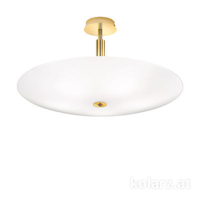 0314.55L.3/ki30 24 Carat Gold, White, Ø62cm, Height 30cm, 5 lights, E14