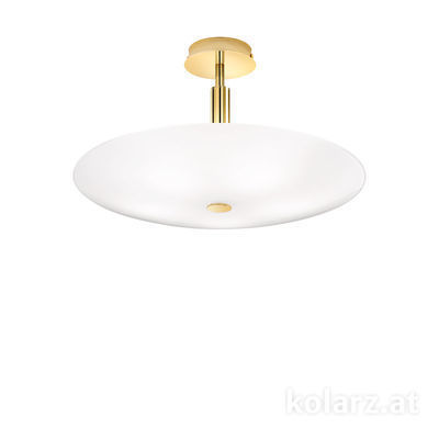 0314.55M.3.W 24 Carat Gold, White, Ø54cm, Height 30cm, 5 lights, E14