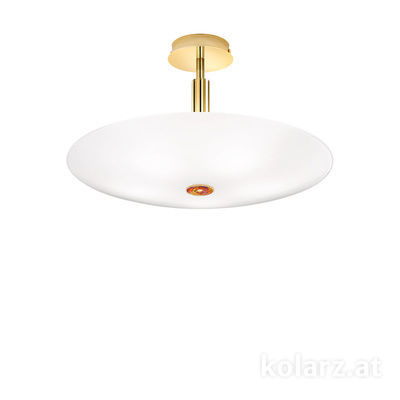 0314.55M.3/aq40 24 Carat Gold, Ø54cm, Height 30cm, 5 lights, E14