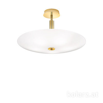 0314.55M.3/ki30 24 Carat Gold, White, Ø54cm, Height 30cm, 5 lights, E14