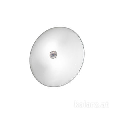 0314.U12.5/ki50 Chrome, White, Ø32cm, Height 8cm, 2 lights, E14