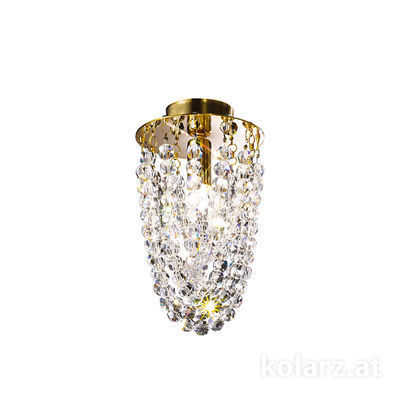 0324.11.3.KpT 24 Carat Gold, Ø11cm, Height 20cm, 1 light, G9