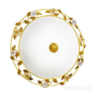 0325.14.3.R1W/KpT 24 Carat Gold, Ø52cm, Height 14cm, 4 lights, E14