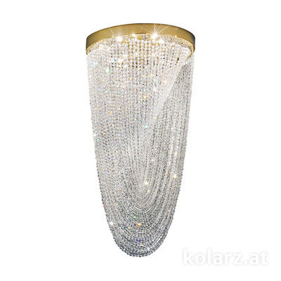 0328.18+3LED.3.KpT 24 Karat Gold, Ø56cm, Höhe 110cm, 8+3-flammig, G9+LED