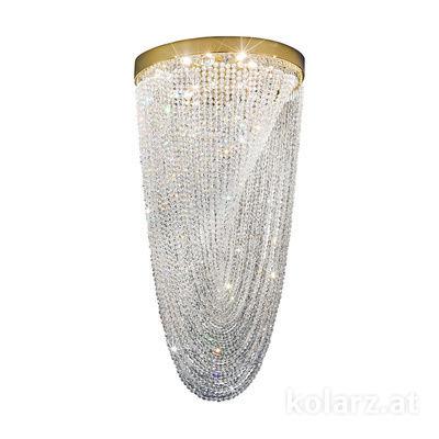 0328.18+3LED.3.KpT Oro de 24 quilates, Ø56cm, Altura 110cm, 8+3 luces, G9+LED