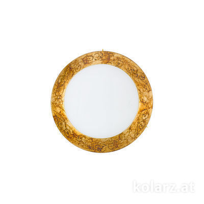 0331.U12.3 24 Carat Gold, Ø30cm, Height 8cm, 2 lights, E27
