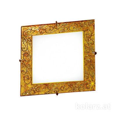 0331.UQ21.3 24 Carat Gold, Length 20cm, Width 20cm, Max. height 5cm, 1 light, G9
