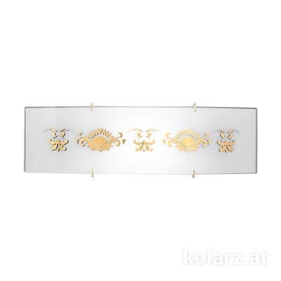 0341.61D.3.41.WAu 24 Karat Gold, Breite 40cm, Höhe 11cm, Min. Höhe 11cm, 1-flammig, R7s 118mm