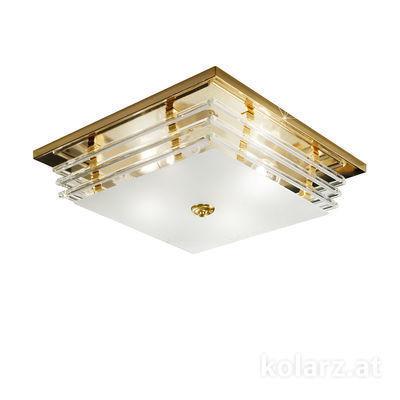 0342.14.3 24 Carat Gold, Length 39cm, Width 39cm, Height 10cm, 4 lights, E27