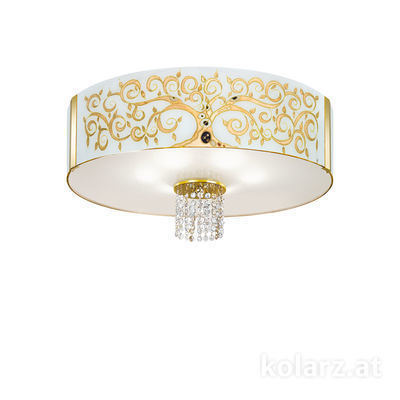 0345.16.3.Al.Go.KpT 24 Carat Gold, Ø60cm, Height 38cm, 6 lights, E27