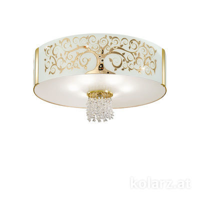 0345.16.3.Al.Go.OKpT 24 Carat Gold, Ø60cm, Height 38cm, 6 lights, E27