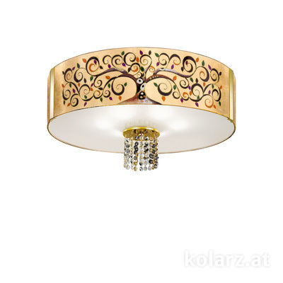 0345.16.3.Al.Mu.ETGn 24 Carat Gold, Ø60cm, Height 38cm, 6 lights, E27