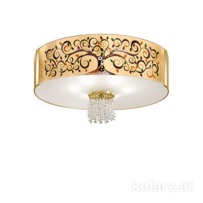 0345.16.3.Al.Mu.KpT 24 Carat Gold, Ø60cm, Height 38cm, 6 lights, E27