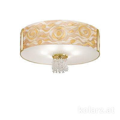 0345.16.3.Aq.CH.KpT 24 Carat Gold, Ø60cm, Height 38cm, 6 lights, E27