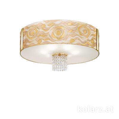 0345.16.3.Aq.Ch.OKpT 24 Carat Gold, Ø60cm, Height 38cm, 6 lights, E27
