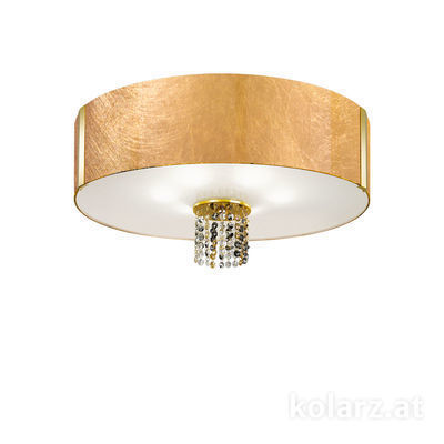 0345.16.3.Au.ETGn 24 Carat Gold, Gold, Ø60cm, Height 38cm, 6 lights, E27