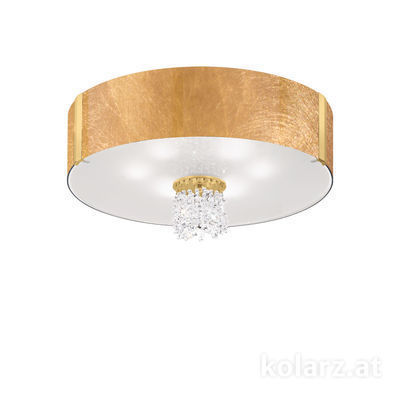 0345.16.3.Au.KpT 24 Carat Gold, Gold, Ø60cm, Height 38cm, 6 lights, E27