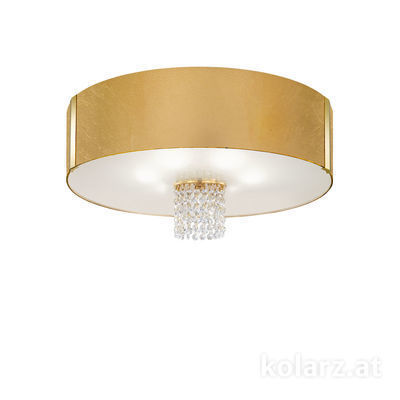 0345.16.3.Au.OKpT 24 Carat Gold, Gold, Ø60cm, Height 38cm, 6 lights, E27