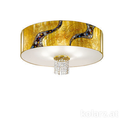 0345.16.3.Ki.Au.OKpT 24 Carat Gold, Ø60cm, Height 38cm, 6 lights, E27