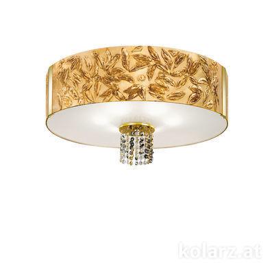 0345.16.3.Li.GA.ETGn 24 Carat Gold, Ø60cm, Height 38cm, 6 lights, E27