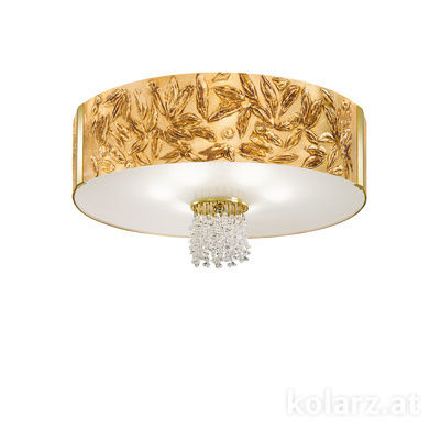 0345.16.3.Li.GA.KpT 24 Carat Gold, Ø60cm, Height 38cm, 6 lights, E27