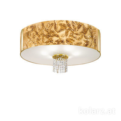 0345.16.3.Li.GA.OKpT 24 Carat Gold, Ø60cm, Height 38cm, 6 lights, E27