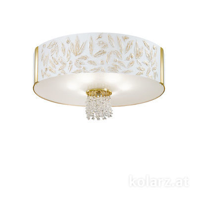0345.16.3.Li.WA.KpT 24 Carat Gold, Ø60cm, Height 38cm, 6 lights, E27