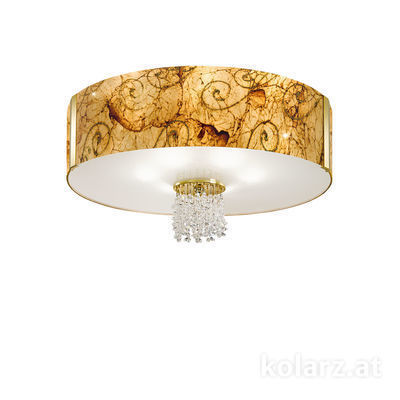 0345.16.3.Me.Au.KpT 24 Carat Gold, Ø60cm, Height 38cm, 6 lights, E27