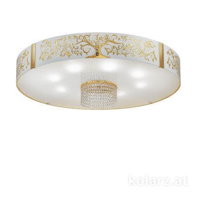 0345.18S.3AlGo.OKpT 24 Carat Gold, Ø80cm, Height 40cm, 8 lights, E27