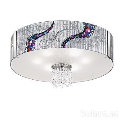 0345.18S.5.Ki.Ag.KpT Chrome, Ø80cm, Height 40cm, 8 lights, E27