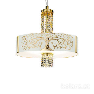 0345.36.3.Al.Go.ETGn 24 Carat Gold, Ø60cm, Height 58cm, Min. height 60cm, Max. height 198cm, 6 lights, E27